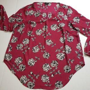 Torrid Floral Top- Plus Size Women's Bluse